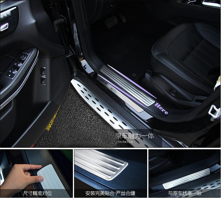 TTCR-II For Mercedes-Benz GLE Coupe(C292) 320 350d 400 450 W166 2015 2016 Exterior Inner Door Sill Scuff Plate Chromium Styling auto fuel filter 163 477 0201 163 477 0701 for mercedes benz