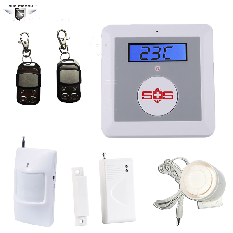 Wireless Gsm Sms Alarm Home Security Burglar System Lcd Display Elderly Alarm With Pir Motion