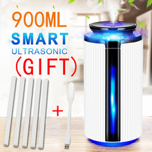New 900ML Air Humidifier Ultrasonic USB Diffuser Aroma Essential Oil 7 Color LED Night light Cool Mist Purifier Humidificador цена и фото