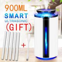 Nuevo Humidificador de aire de 900ML difusor ultrasónico USB aceite esencial 7 colores LED luz nocturna purificador de niebla fresco Humidificador