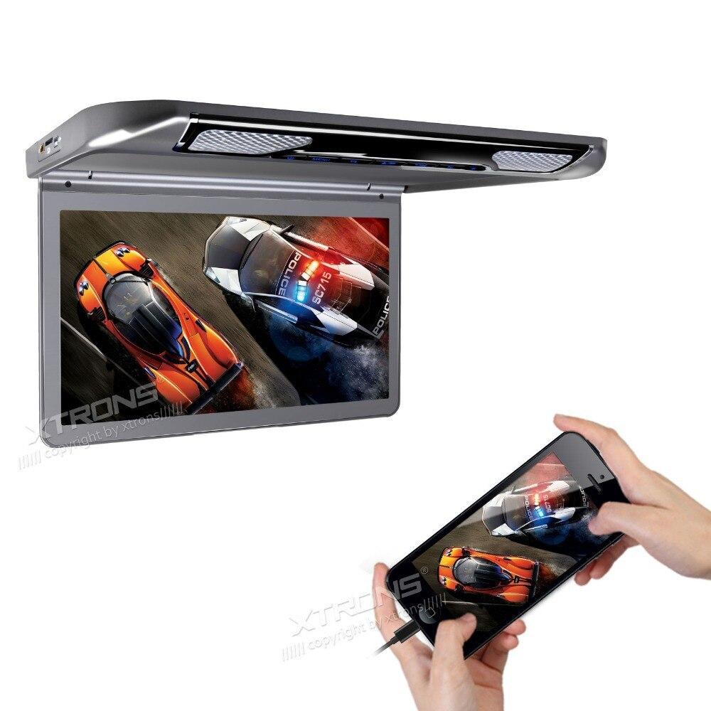 Новинка! 13,3 1080 P видео HD цифровой TFT Автомобильный MPV крыша флип вниз тонкий потолочный монитор плеер широкий экран ультратонкий с HDMI входом