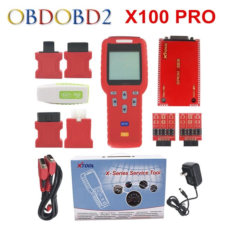 Оригинал XTOOL X100 программист про ключ Авто X-100 X 100 PRO обновление онлайн X100 + программист ЭБУ и иммобилайзер считыватель ПИН-кода