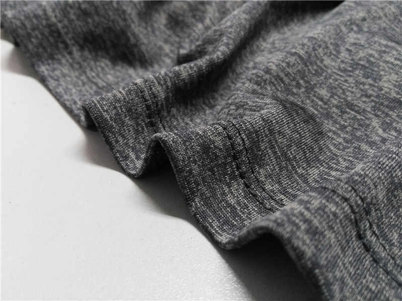 Erkek kısa kollu tişört spor basketbol koşu tayt spor termal kas vücut geliştirme spor salonu sıkıştırma forması ceket üst