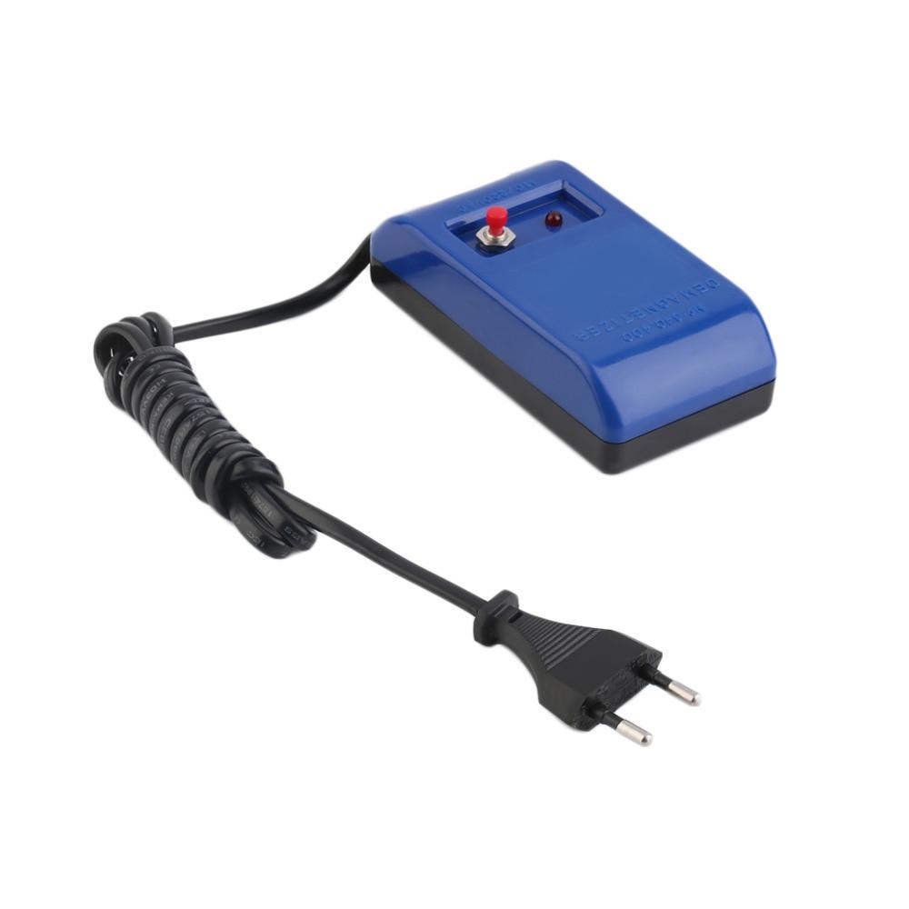 EU Plug Type Electrical Perfect Watch Repair Screwdriver Tweezers Demagnetise Demagnetizer Tools New