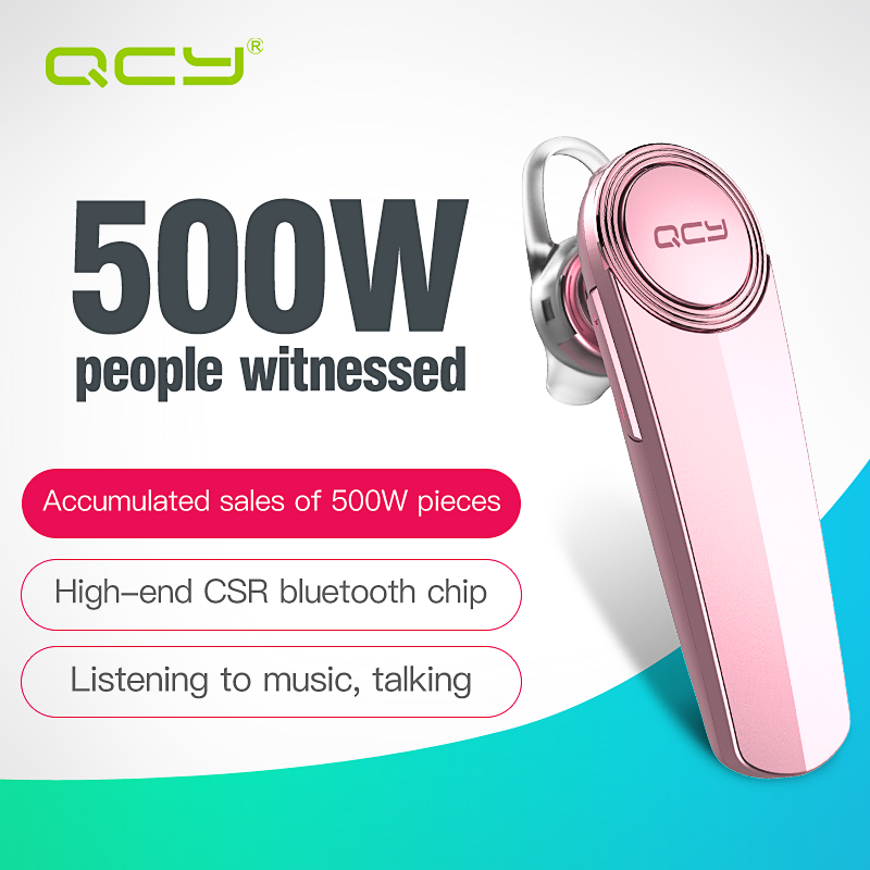 QCY Q8 Chinese voice stereo call headset bluetooth earphone wireless headphones with Mic for iPhone 7 samsung HTC google qcy sets q26 mini business headset car calling wireless headphone bluetooth earphone with mic for iphone 5 6 7 android