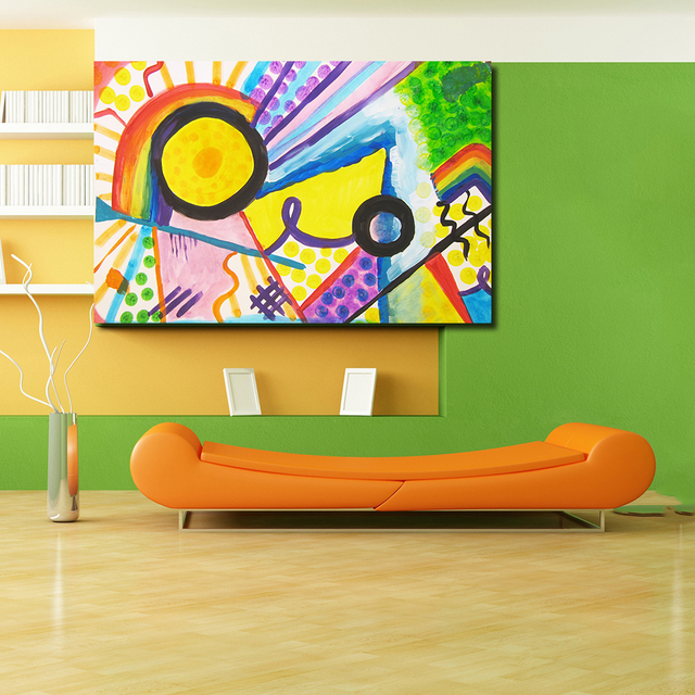 Oil Painting Canvas Home Decor Art Inspired By Kandinsky Wall ...