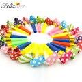 24 unids piezas pequeñas Multi Color fiesta soplones silbatos niños cumpleaños fiesta suministros decoración Noicemaker bolsas de regalo Piñata