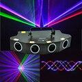 Новый 4 линзы 550 мВт RGBP светодиодный лазерный светильник DMX лазерный луч эффект проектора для дискотеки DJ сцены ночного клуба бара события се...