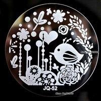 Nail Art Image Stamp Plates DIY Designs Printing Manicure Stamping Template Birds Flower Garden JQ52