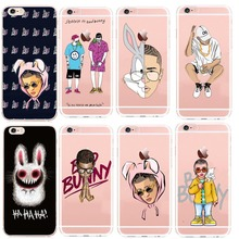 Soft Clear Phone Case Back Cover For iPhone X 8 XS Max   7 7Plus 6S 6SPlus SE 5 5S Bad Bunny Protective Cases Shell Coque