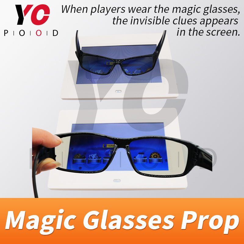 Magic glasses Real life Escape room Props puzzle use amazing glasses to find invisible clue chamber room game lock YOPOOD