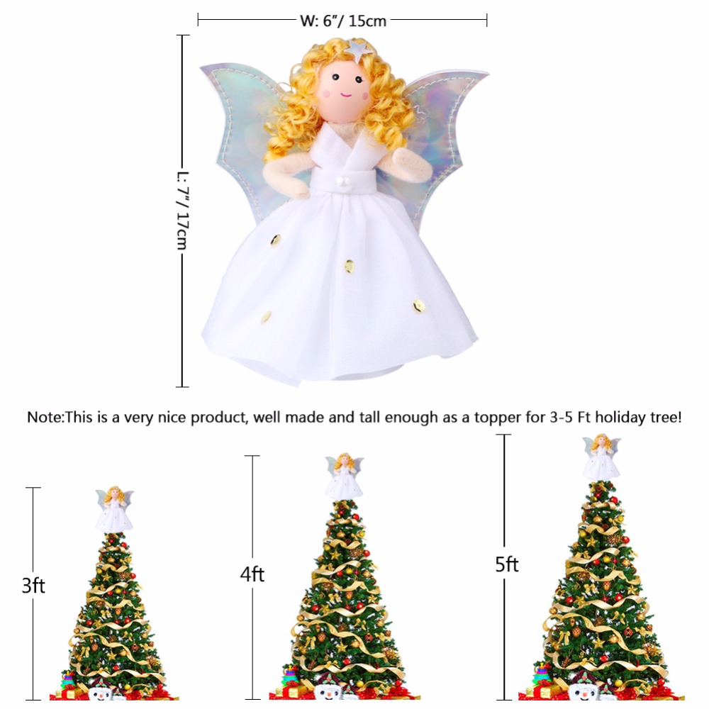 ourwarm christmas tree topper angel new year guardian angel new years toys gifts christmas tree decorations for a holiday in tree toppers from home - Christmas Toppers
