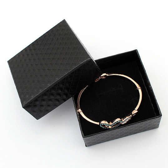 宝石箱のギフトボックスジュエリーアクセサリー包装ネックレスイヤリング指輪ブレスレットサイズ 7.5 × 7.5 × 3.5