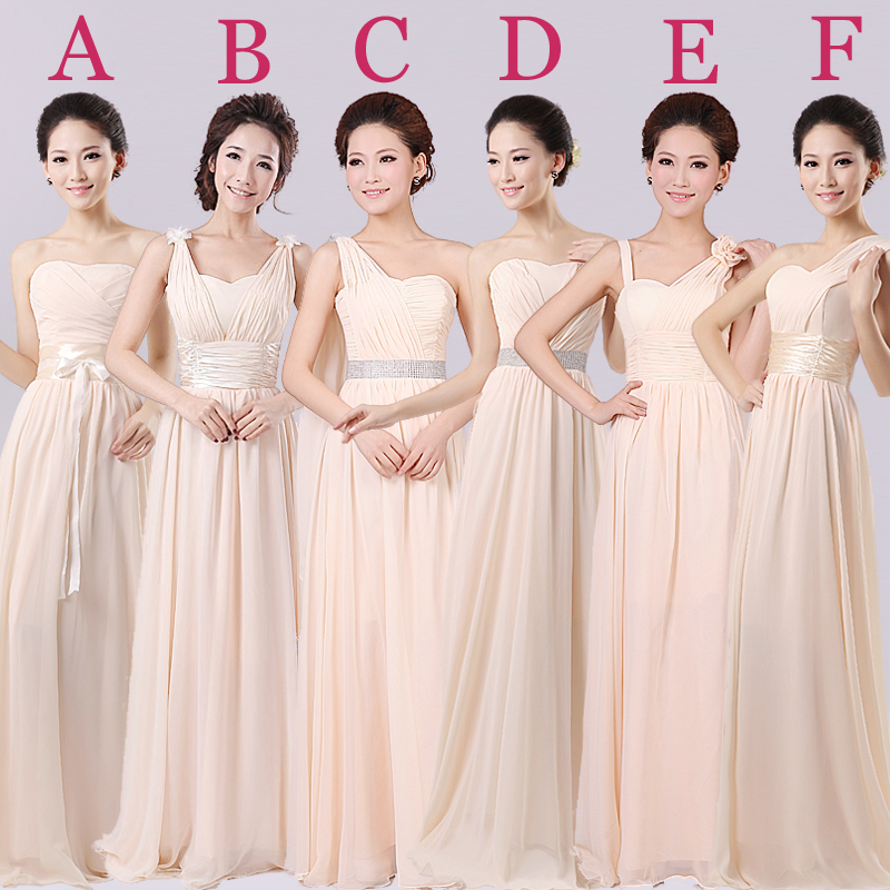 Pink champagne colored bridesmaid dresses weddings dresses for Plus size champagne colored wedding dresses