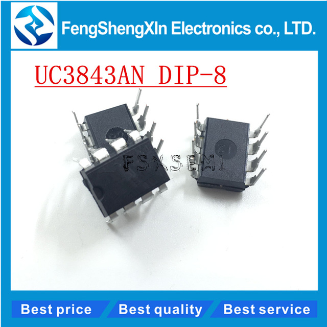 US $7 05 |100pcs/lot New UC3843AN UC3843A UC3843 Current Mode PWM  Controller IC DIP 8-in Integrated Circuits from Electronic Components &  Supplies on
