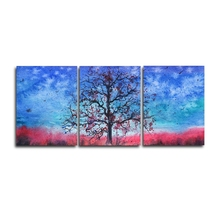 Laeacco 3 Panel Watercolor Tree Posters and Prints Modern Canvas Painting Wall Art Nordic Home Living Room Decoration