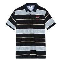 50f444e4b ... camisas do algodão listrado respirável masculino. 2019 New Polo Shirt  Men Brand Clothing Tace Shark Polo Shirts Cotton Breathable Striped Men Polo