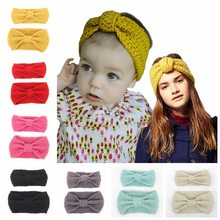 Europeo vestito di paternità della boemia fascia dei capelli del bambino della  fascia annodata di lana lavorato a maglia di inve. 2de26c7ea241