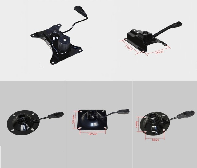 Premintehdw Office Chair Part Seat Plate Bottom Base Replacement Mechanism Control Tilt Lever Height Trigger Controller