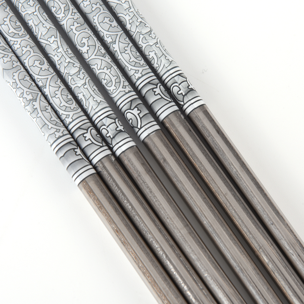 Blue and white porcelain Pattern Stainless Steel Chopsticks Pair#@