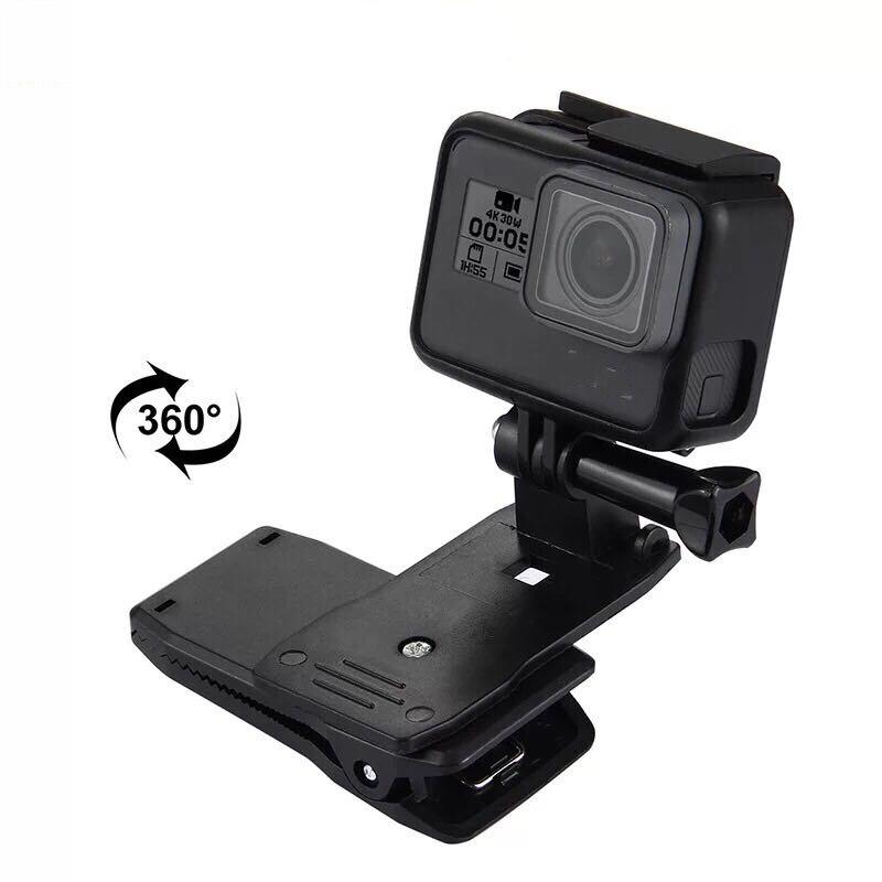 Rotate Backpack Clip Clamp Mount For GoPro Hero 7/6/5/4/3+3 Xiao Yi 4K Lite SJCAM SJ4000 EKEN H9/H9R Sports Camera Accessories