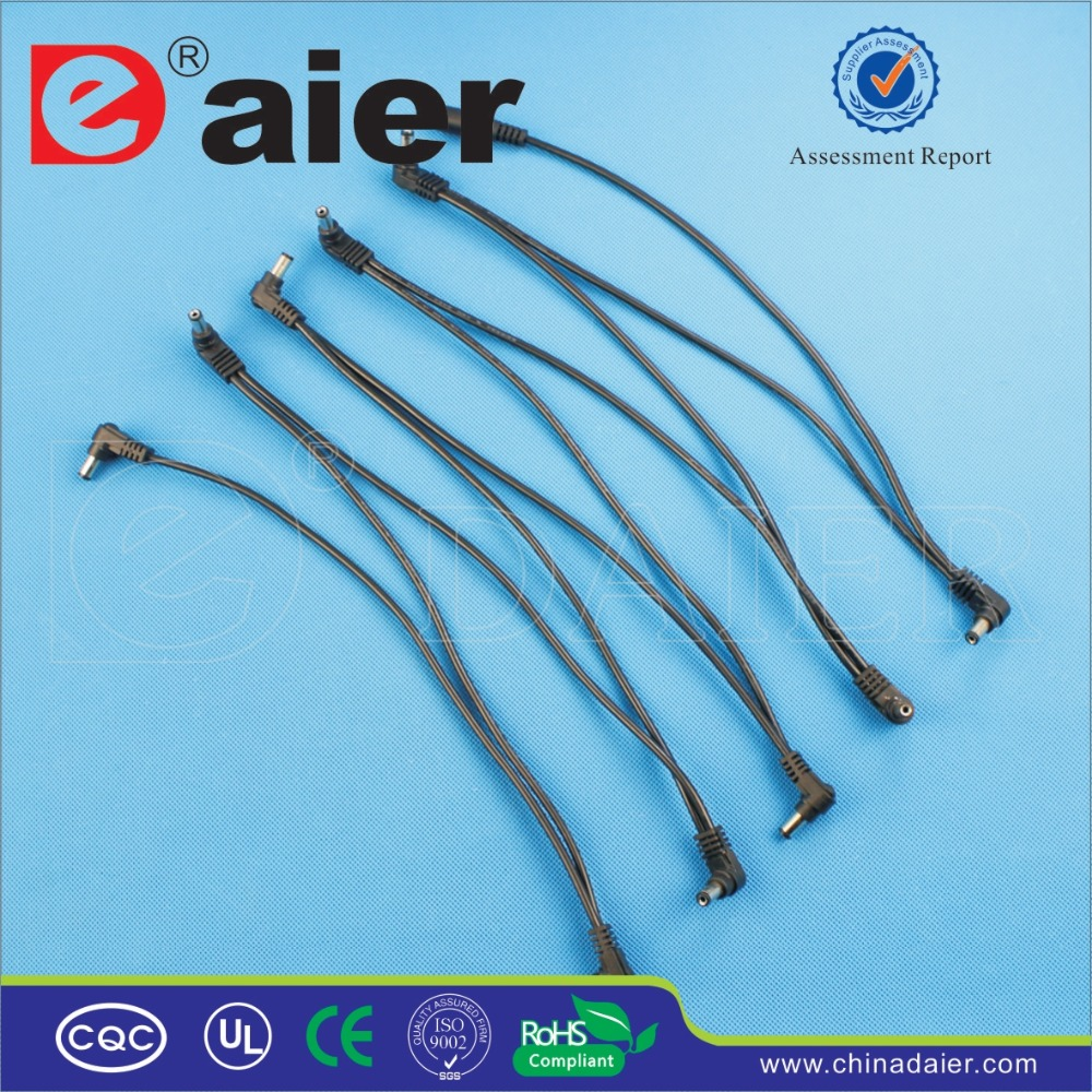 10DC2 1F 1 1 to 10 Electrode Daisy Chain Cable For Guitar Pedal Effect Power Adapter