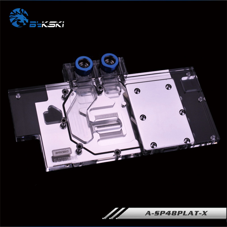Bykski A SP48PLAT X, Full Cover Graphics Card Water Cooling Block RGB/RBW for Sapphire NITRO RX480 / Dataland RX480-in Fans & Cooling from Computer & Office    2