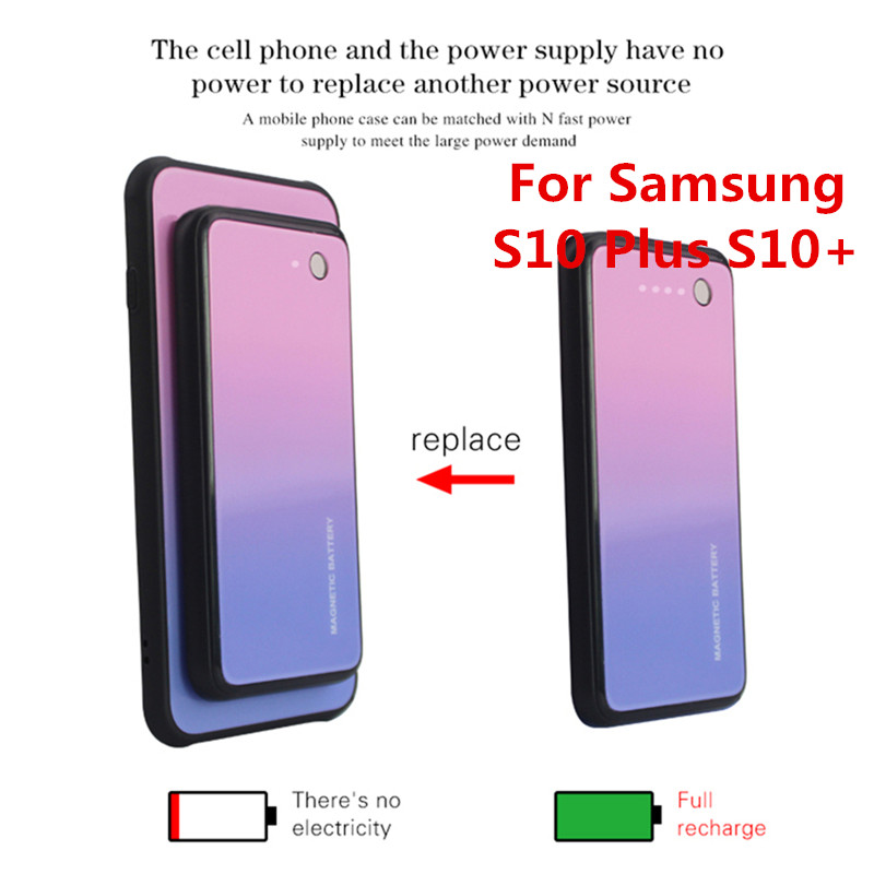 5000mAh Backup Power Bank Back Clip Battery Case For Samsung Galaxy S10 Plus S10+ 5000mAh Wireless Magnetic Battery Charger Case5000mAh Backup Power Bank Back Clip Battery Case For Samsung Galaxy S10 Plus S10+ 5000mAh Wireless Magnetic Battery Charger Case