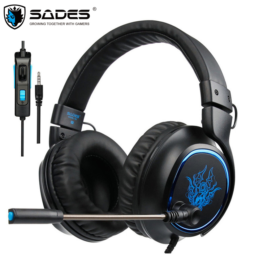 SADES R5 Casque PS4 Headset Gamer Wired Stereo Gaming Headphones with Mic for PC Xbox One Mobile Phone Laptop Mac