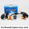 Камера Заднего вида Для Renault Captur 2013 ~ 2016/RCA Проводной Или беспроводной HD Широкоугольный Объектив CCD Ночного Видения Резервного Автомобиля Камеры