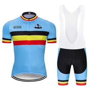 Image 2 - Crossrider 2020 בלגיה רכיבה על אופניים ג רזי סט MTB אחיד אופני בגדים לנשימה אופניים ללבוש בגדי גברים של קצר מאיו יע