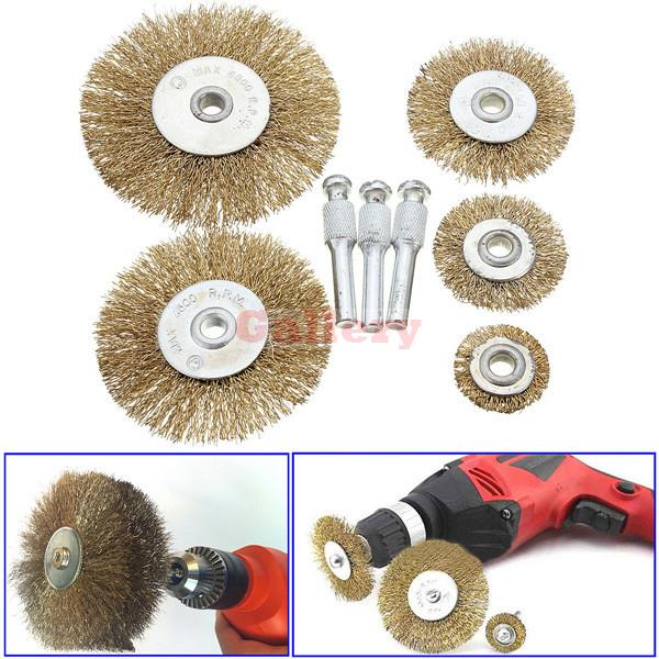 5 Pcs Rotary Wire Wheel Brush Set with 3 Attachments for Drills Sanding Descaling Make Up Makeup Tools асадов э первое свидание