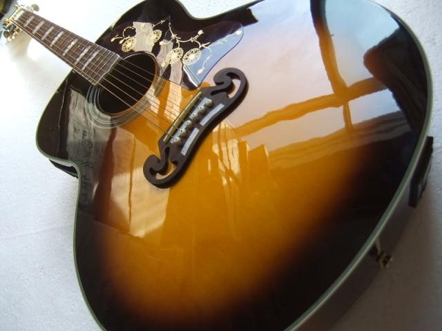 Закат J200 классический акустической гитары, высокое качество J200vs Электрический акустической гитары, одноцветное спру Топ, завод клен J200 Гит...