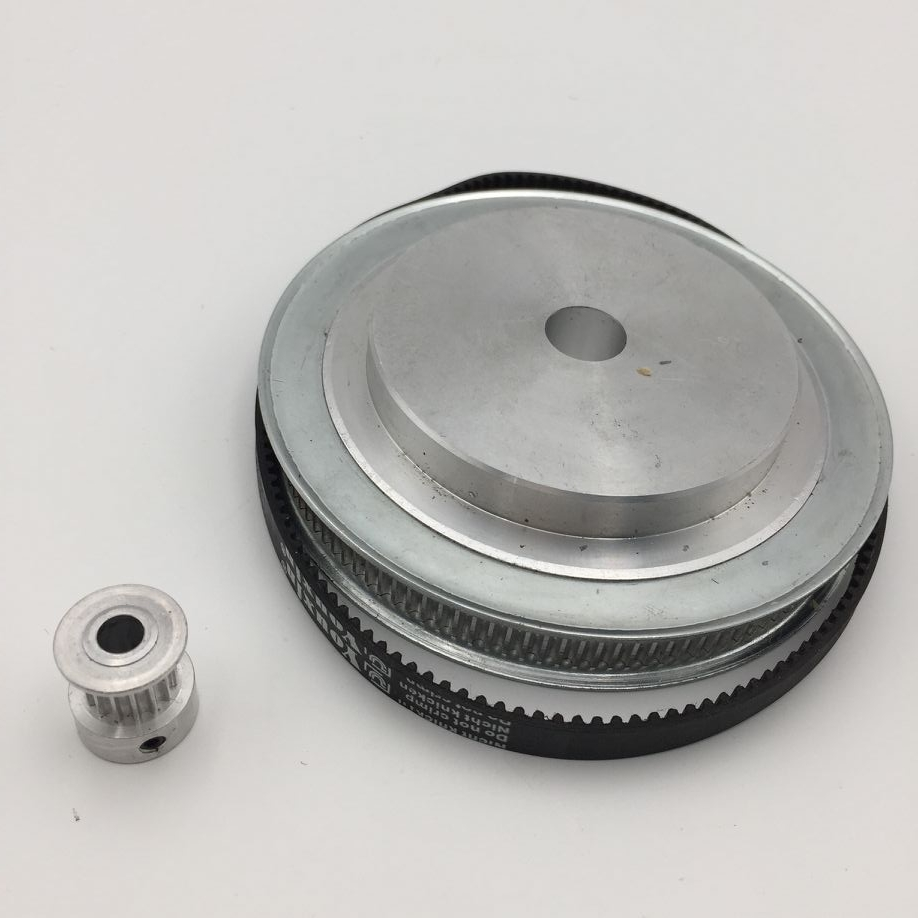 CNC Synchronous Belt With Wheel 4th A Axis Reduction Gears For CNC Rotary Axis New