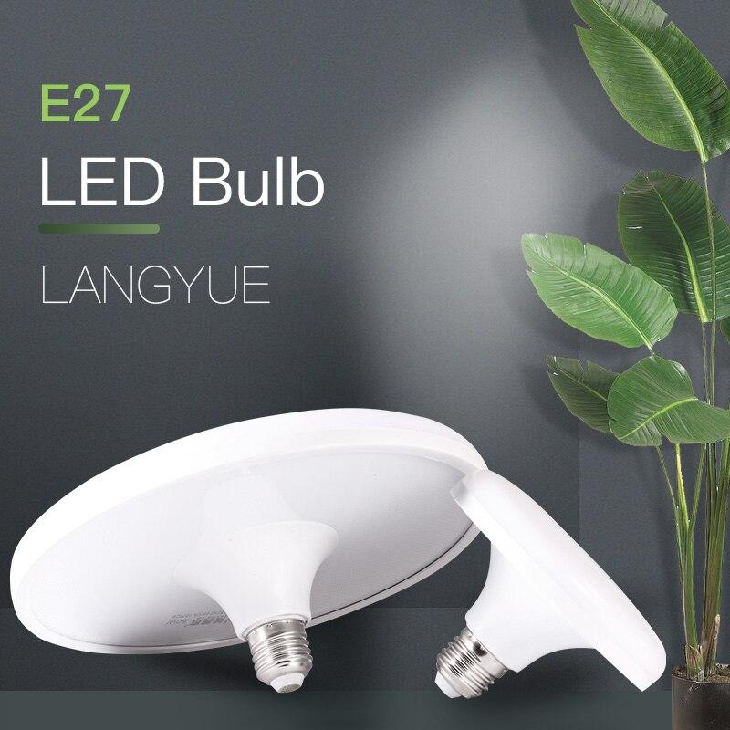 220V UFO ampuller E27 led ışık ampul vurgulamak 15/20/30/40/50/60W LED Bombillas yuvarlak lamba ışıkları ev mutfak yatak odası aydınlatması