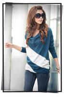 новый горячий мода мод UT Blur одежда топы - майка дамы с сырой ди блузка, м - ххl бесплатная доставка
