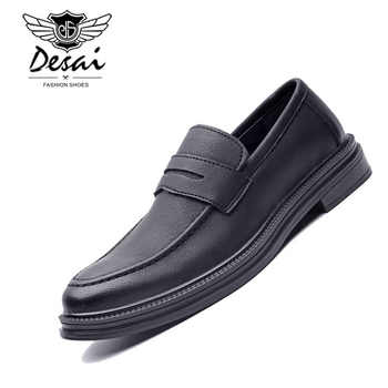 DESAI Fashion Spring Summer Men Casual Shoes Slip On Moccasins Men Loafers Pu Leather Shoes Black Flats Male Chaussure Homme - SALE ITEM Shoes