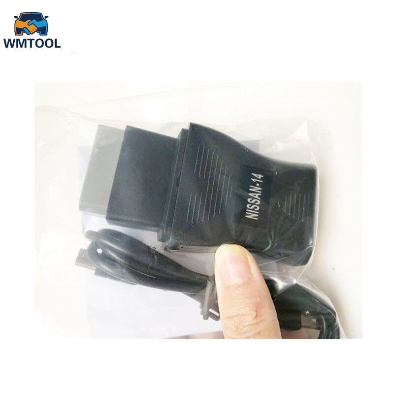 Nouveau Pour Nissan USB Interface De Diagnostic OBD2 OBD Câble NS CO-N--SULT USB 14 Broches Interface Pour OBD Adaptateur