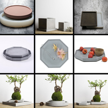 Flowerpot special concrete tray mold cement candle home decoration fruit jewelry