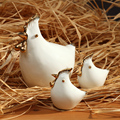XXXG Ceramic animal chicken ornaments Home Furnishing Decor modern living room office study Zhaocai ornaments boutique