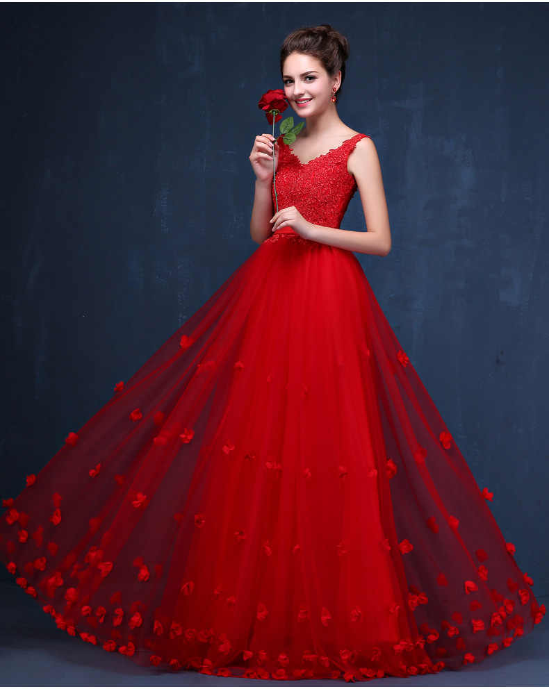 87c1258ba3233 High Quality Pink/Red Lace Long Dresses For Wedding Party Summer ...