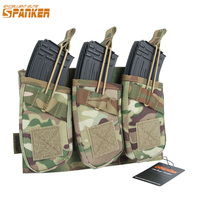 EXCELLENT ELITE SPANKER Tactical Universal Triple AK47 Ammo Clips Outdoor Hunting Equipment Bag Military Molle Magazine Pouch