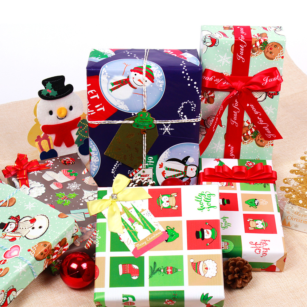 US $13 99 OFF 20pcs Christmas t wrapping Paper Box Packaging Gold Metallic New Year Gift Boxes With Lids Xmas New Year Decor for Home Craft