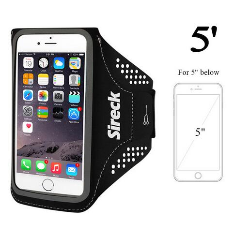 quality design 951d7 c5180 US $5.99 49% OFF|Sireck Running Bag Waterproof Sport Arm Bag 5.0'' 5.8''  Phone Case Fitness Gym Bag Jogging Arms Belt Pouch Running Accessories-in  ...