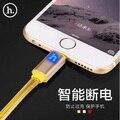 НОСО Марка 2 M Кристалл Желе Цвет 8 Pin Данных Кабель Зарядного Устройства Для iPhone 7 7 Plus 6 s 6 Плюс, интеллектуальное LED On/Off Кабель Для Зарядки