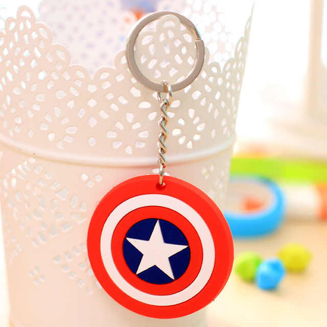 1 pcs Avengers Spider Man Mickey Minnie Key Ring anime Japonês Pokemon Coruja Titular Chaveiro Chaveiro Sacos de Jóias encantos