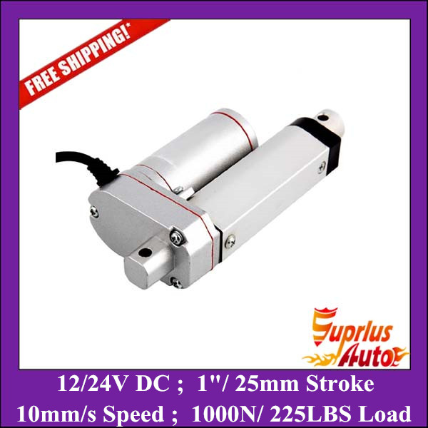Free Shipping IP65 12V 25mm 1inch adjustable stroke 1000N 225LBS load 10mm/s speed mini industry heavy duty linear actuator water proof 12v 24v 150mm adjustable stroke 1500n 330lbs load 6mm s speed heavy duty linear actuator la10db free shipping