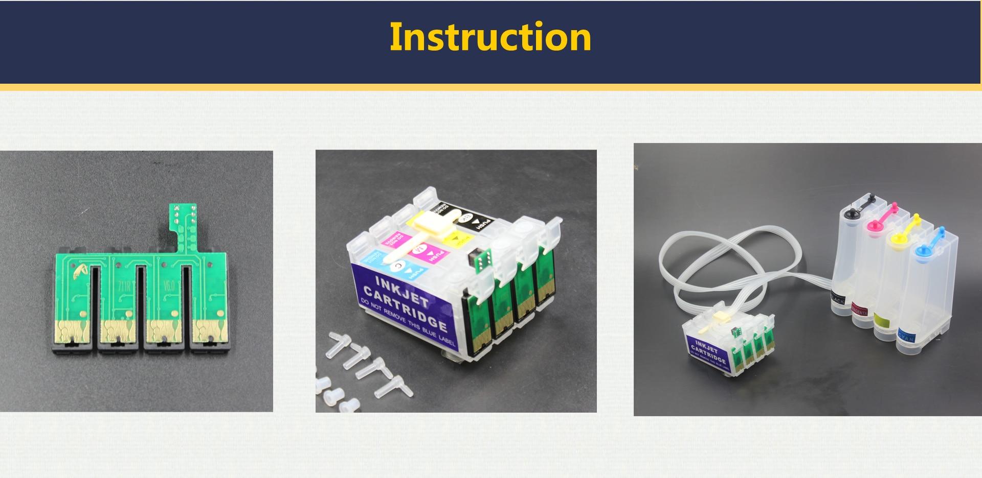 В общей сложности 20 блоков t0731 731n 73n автоматическое пополнение чернил чип для Epson T20/TX100/TX121/TX200/TX220/TX400/TX409/T40W/TX600W Система непрерывной подачи чернил
