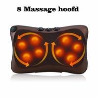 4 8 Pcs Massage Head Neck Massager Car Home Shiatsu Neck Relaxation Waist Body Electric Massage