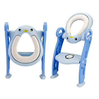 Baby Toilet Seat Kids Toilettes With Adjustable Ladder Child Potty Chair Folding Toilet Trainer Seat Step Children Potty Seat baby potty seat ladder children toilet seat cover kids toilet folding infant potty chair training portable